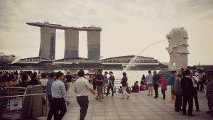 Suasana Merlion Park Singapura/batambanget