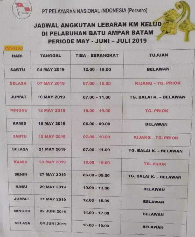 Catat Ini Jadwal Dan Daftar Harga Tiket Kapal Pelni Batam Mudik